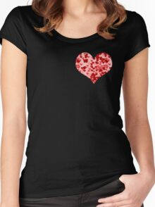 Hearts all around Women's Fitted Scoop T-Shirt