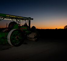 Steam at sunset by RHMPhotography