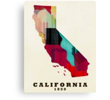 California state map Canvas Print