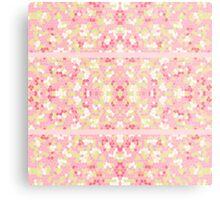 Sweet Pastel Pink Green Abstract Pretty Mosaic Metal Print