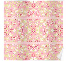 Sweet Pastel Pink Green Abstract Pretty Mosaic Poster