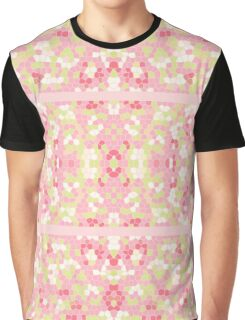 Sweet Pastel Pink Green Abstract Pretty Mosaic Graphic T-Shirt