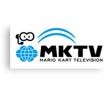 Mario Kart TV (Black) Canvas Print