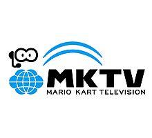 Mario Kart TV (Black) Photographic Print