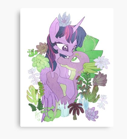 Twilight, Spike and Succulents Canvas Print