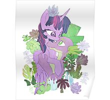 Twilight, Spike and Succulents Poster