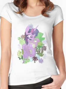 Twilight, Spike and Succulents Women's Fitted Scoop T-Shirt