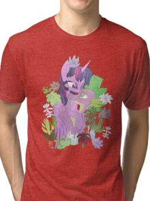 Twilight, Spike and Succulents Tri-blend T-Shirt
