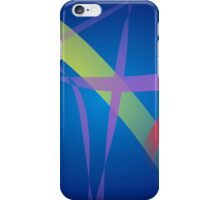 Ribbons in Navy Blue Space iPhone Case/Skin