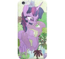 Twilight, Spike and Succulents (+ Background) iPhone Case/Skin
