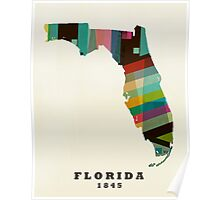 Florida state map Poster