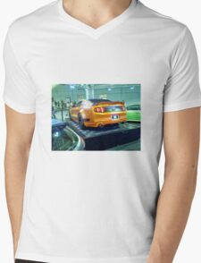 Flat Mustang Mens V-Neck T-Shirt