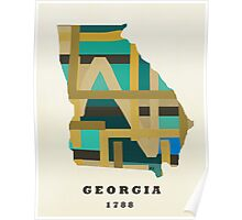 Georgia state map Poster