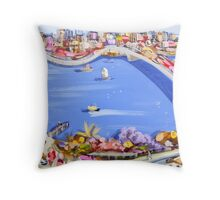 Across the blue Throw Pillow