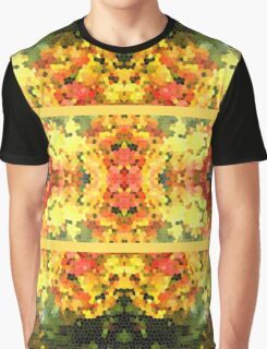 Abstract Stained Glass Colorful Autumn Fall Mosaic Graphic T-Shirt