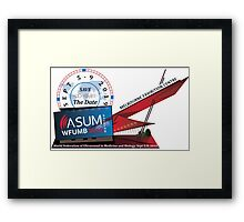 WFUMB Save the Date Framed Print