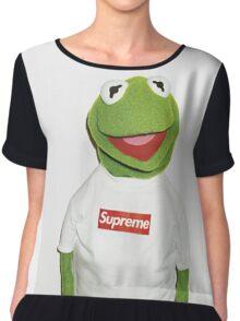 Kermit Supreme / Supreme Logo ( Kermit ) Chiffon Top