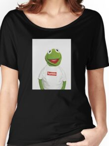 Kermit Supreme / Supreme Logo ( Kermit ) Women's Relaxed Fit T-Shirt