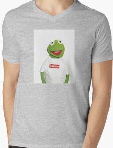 Kermit Supreme / Supreme Logo ( Kermit ) Mens V-Neck T-Shirt