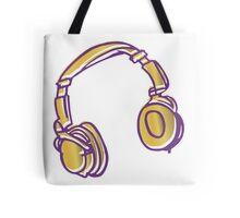 Headphone Tunes Tote Bag
