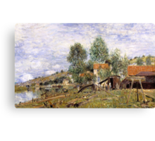 Boatyard at Saint-Mammes Canvas Print