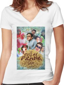 Filthy Frank - King of Filth (Clean) Women's Fitted V-Neck T-Shirt