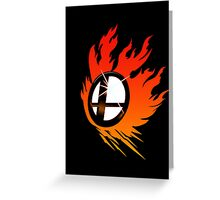 Smash Bros Emblem Red Greeting Card