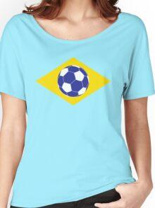 Brazilian Football Flag Women's Relaxed Fit T-Shirt