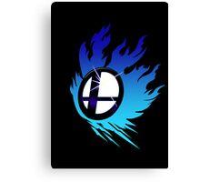 Smash Bros Emblem Blue Canvas Print