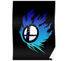 Smash Bros Emblem Blue Poster
