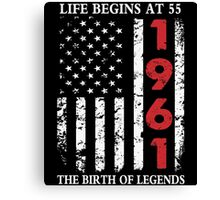 1961 The Birth Of Legends American Flag T-Shirts & Hoodies Canvas Print
