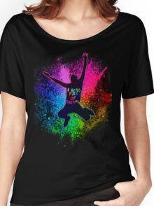 Coldplay Rainbow Splatter Women's Relaxed Fit T-Shirt