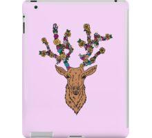 deer / stag with flower antlers iPad Case/Skin