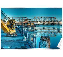Captain Proud Docked - Murray Bridge, The River Murray, South Australia Poster