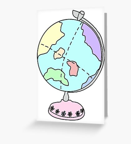 cute globe of earth Greeting Card