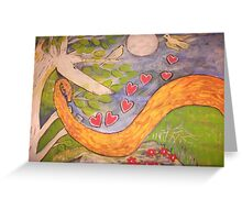 Unicorn Tree from the Golden dragon dream Greeting Card