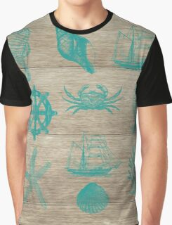 Marine Life 1, #redbubble, #nautical, #ocean, #abstract, #pattern Graphic T-Shirt