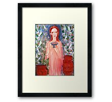 child with a cup  Framed Print