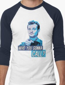 Who You Gonna Call? Ghostbusters! Men's Baseball ¾ T-Shirt