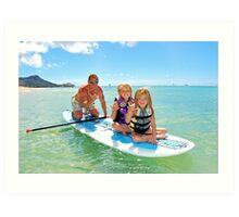 Family fun in the Ocean Art Print