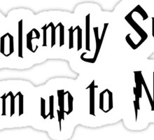 Harry Potter I Solemnly Swear Sticker