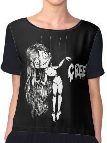Creepy Doll Chiffon Top