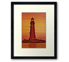 Lighthouse at Dusk Framed Print