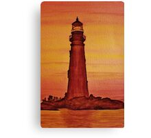 Lighthouse at Dusk Canvas Print