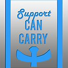 """""""Support can carry"""" design in bright blue by jayman1998"""