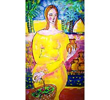 Lady with a pot Photographic Print