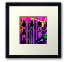graffiti rain Framed Print