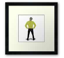"""Captain Booty"" Kirk Star Trek Framed Print"