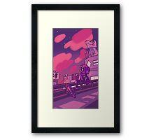 Inkopolis Sunset Framed Print