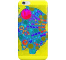 Yellow / Blue Mosaic Pig - Buon Appetito iPhone Case/Skin